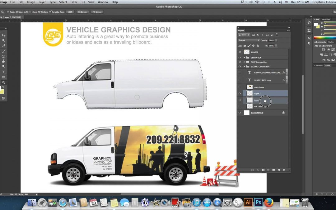 Vehicle Graphic Realistic Layout