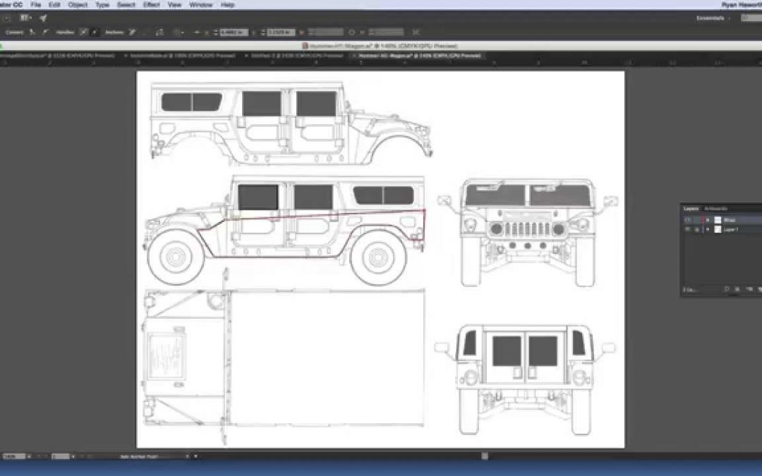 How To Do A Vehicle Wrap Project in Illustrator